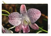 Pink Orchid And Dewdrops 013 Carry-all Pouch