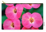 Pink Orchid Crown Of Thorns Carry-all Pouch