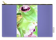 Pink Orchid With Green 1 Carry-all Pouch