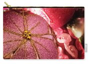 Pink Ornaments Holiday Card Carry-all Pouch