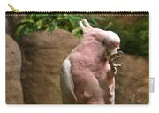 Pink Parrot Nibbling Foot 2 Carry-all Pouch