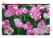 Pink Parrot Tulip Garden Carry-all Pouch