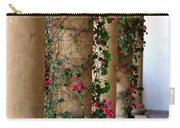 Pink Peacock Colored Bougainvillea Blossoms Climbing Pillars Photograph By Colleen Carry-all Pouch