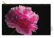 Pink Peony On A Black Background Carry-all Pouch