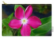 Pink Periwinkle Flower 1 Carry-all Pouch
