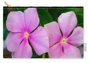 Pink Periwinkle Flower Carry-all Pouch