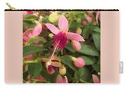 Pink Petalled Fuchsia Blooms              May         Indiana Carry-all Pouch