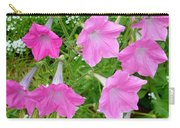 Pink Petunia Flower 9 Carry-all Pouch