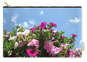 Pink Petunias In The Sky Carry-all Pouch