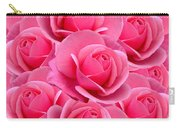 Pink Pink Roses Carry-all Pouch