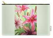 Pink Pixie Lilies Carry-all Pouch