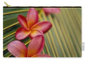Pink Plumeria Carry-all Pouch