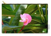 Pink Plumeria In Bloom Carry-all Pouch