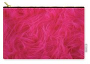 Pink Plush Fabric Carry-all Pouch