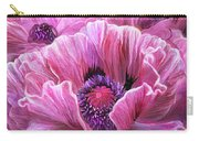 Pink Poppy Splash Carry-all Pouch