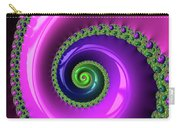 Pink Purple And Green Fractal Spiral Carry-all Pouch