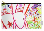 Pink Rabbit Carry-all Pouch