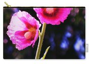 Pink Red Flower Carry-all Pouch