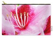 Pink Rhodie Flowers Art Prints Canvas Rhododendrons Baslee Troutman Carry-all Pouch