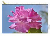 Pink Rose Against Blue Sky I Carry-all Pouch