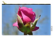 Pink Rose Against Blue Sky Iv Carry-all Pouch