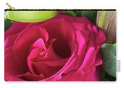 Pink Rose And Bud Close-up Carry-all Pouch