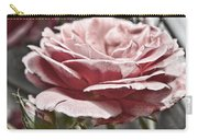 Pink Rose Faded Carry-all Pouch