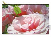 Pink Rose Flower Garden Art Prints Pastel Pink Roses Baslee Troutman Carry-all Pouch