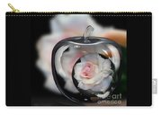 Pink Rose In Apple Carry-all Pouch