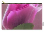 Pink Rose In Light Carry-all Pouch