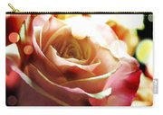 Pink Rose In Sparkling Lights Carry-all Pouch