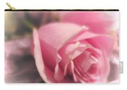 Pink Rose Macro Abstract 1 Carry-all Pouch