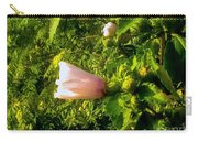 Pink Rose Of Sharon Against Trees Carry-all Pouch