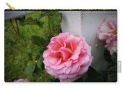 Pink Rose Carry-all Pouch by Valeria Donaldson