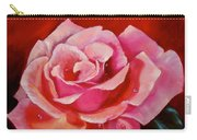 Pink Rose With Dew Drops Jenny Lee Discount Carry-all Pouch