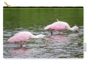 Pink Roseate Spoonbills Feeding Carry-all Pouch