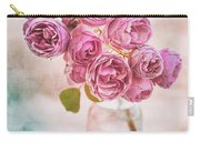 Pink Roses Beauty Carry-all Pouch