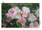 Pink Roses Birthday Card Carry-all Pouch
