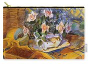 Pink Roses In Gaye's Dish Carry-all Pouch