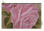 Pink Roses Oval Framed Carry-all Pouch