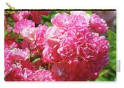 Pink Roses Summer Rose Garden Roses Giclee Art Prints Baslee Troutman Carry-all Pouch