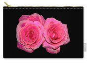 Pink Roses With Enameled Effects Carry-all Pouch