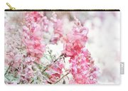 Pink Snapdragons Watercolor Carry-all Pouch