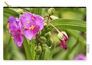 Pink Spiderwort Drip Drops Carry-all Pouch