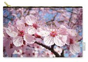 Pink Spring Blossoms Art Print Blue Sky Landscape Baslee Troutman Carry-all Pouch