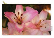 Pink Spring Lilly Carry-all Pouch