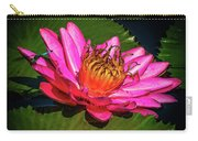 Pink Summer Water Lily Carry-all Pouch