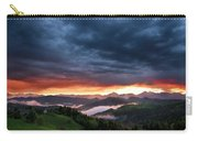 Pink Sunrise And Blue Clouds In The Mountains Of Kamnik Savinja  Carry-all Pouch