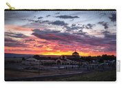 Pink Sunset Behind A Church Carry-all Pouch