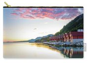 Pink Sunset Over A Lagoon In Norway Carry-all Pouch